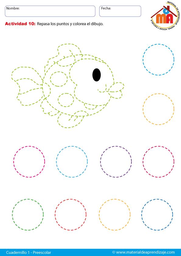 Ficha-01 el círculo | ecriture | Pinterest | Preescolar, Educacion ...