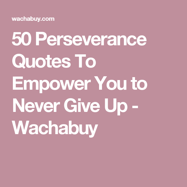 Persistence Motivational Quotes: 50 Perseverance Quotes To Empower You To Never Give Up