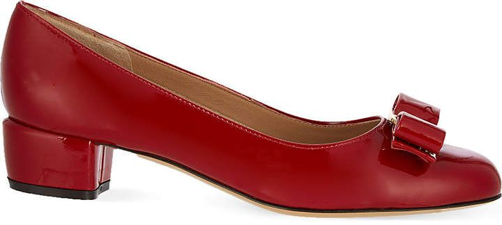 5e8bc00c7e01 Salvatore Ferragamo Vara I patent-leather courts