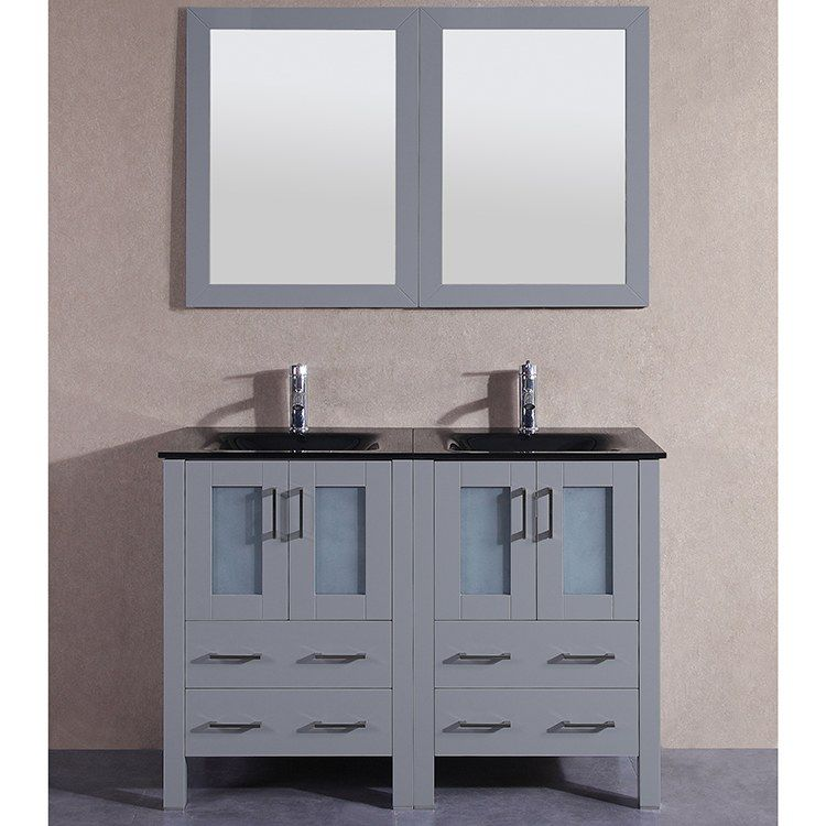 Bosconi Agr224bgu 48 Double Bathroom Vanity Set With Tempered