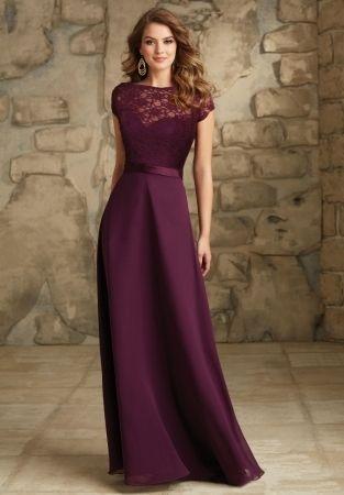 Amazing Plum Dresses For Weddings Satin