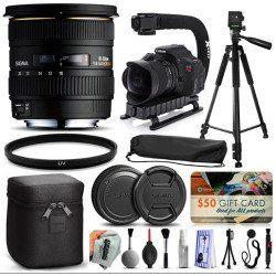 Sigma 10-20mm F4-5.6 EX DC HSM Lens for Nikon (201306) + 60' Tripod + Action Stabilizer Handle + Ultra Violet Filter + Cleaning Kit + Lens Brush + Cap Keeper + $50 Gift Card for Prints