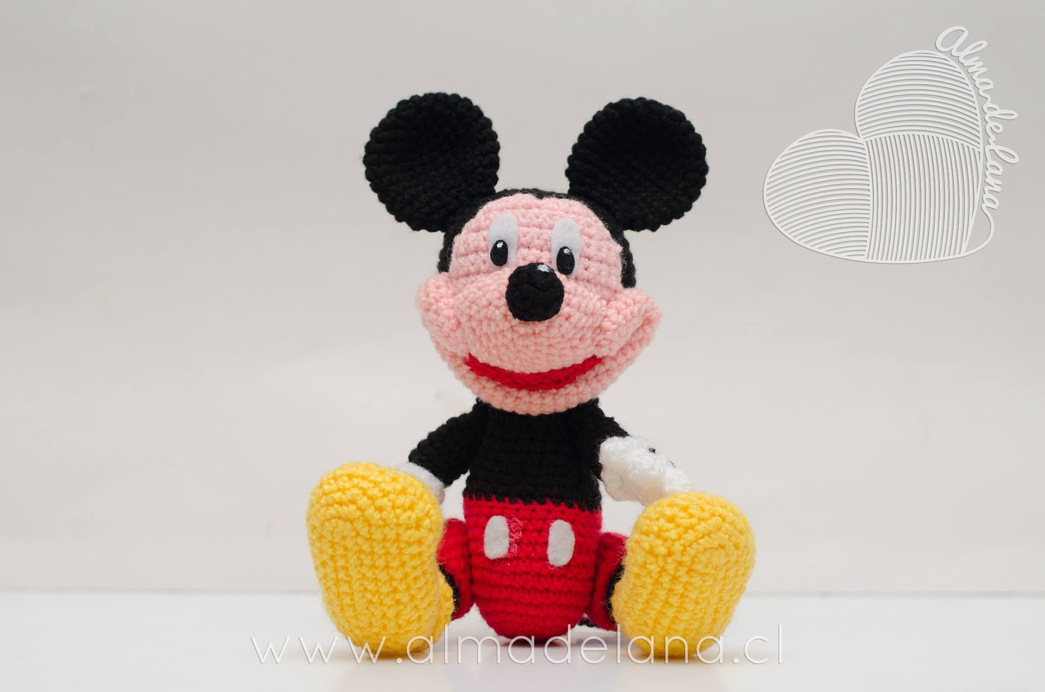 Amigurumis Personajes De Disney : Mickey mouse inspirado en el amigurumi de la diseñadora chonticha