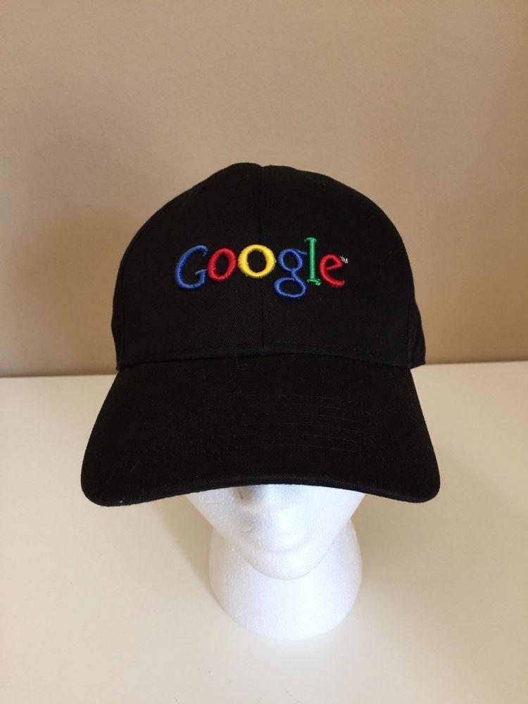 0b0cb9851528d GOOGLE employee 100% cotton black adjustable Baseball Cap Hat Halloween OSFM