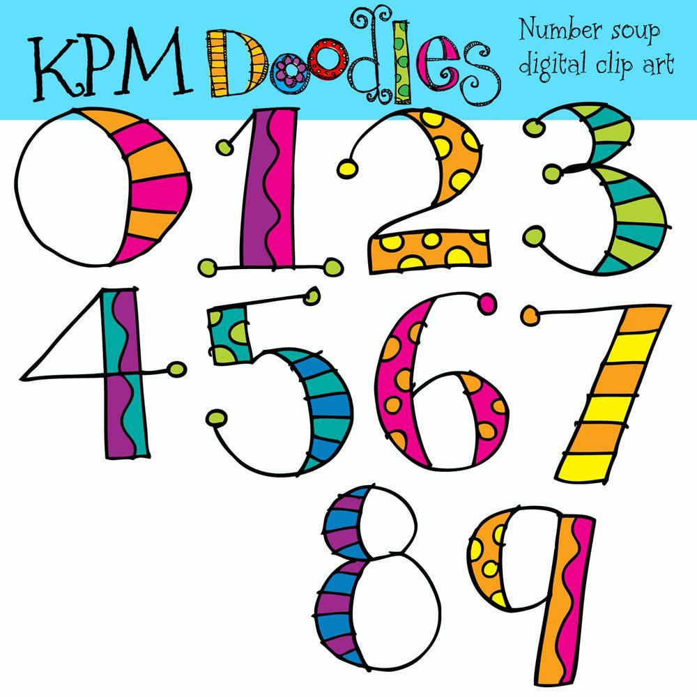Kpm Doodles Numbers To Match Alphabet Soup Clip Art Lettering Doodle Lettering