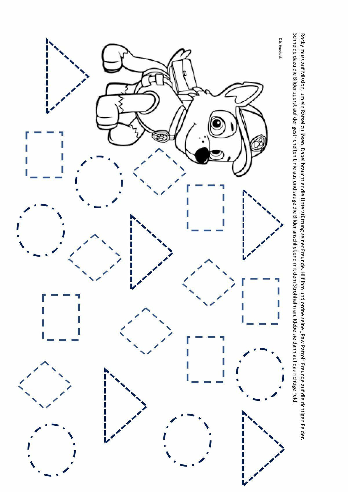 Ansaugen Mit Paw Patrol Vorschule Im Kindergarten Vorschularbeitsblatter Vorschulideen