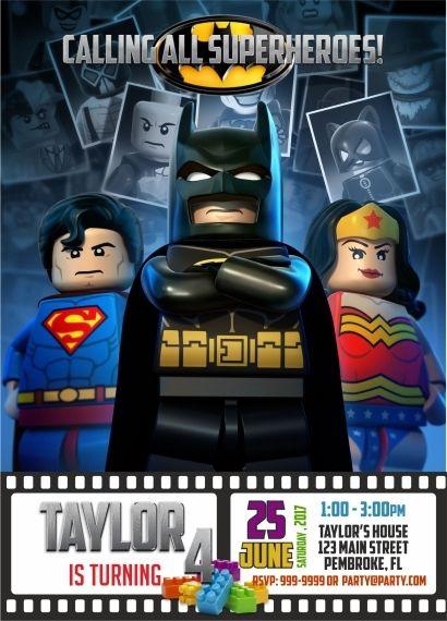 Lego Batman Birthday Invitation Lego Movie Invites Batman