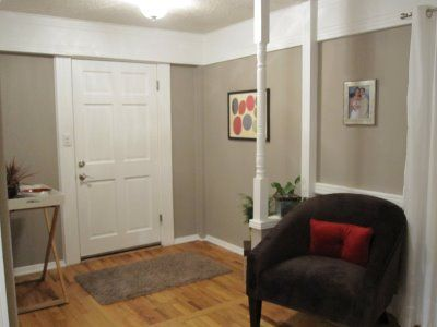 Master Bedroom Entryway entryway color is olympic's earl gray | foyer | pinterest | paint