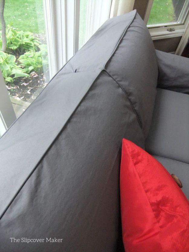 Admirable Tailored Slipcover For Loveseat With Attached Back Inzonedesignstudio Interior Chair Design Inzonedesignstudiocom