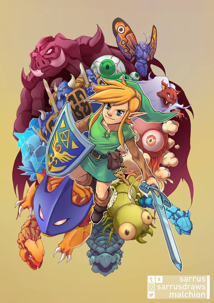A Link To The Past By Sarrus On Deviantart Zelda Art Legend Of Zelda Link To The Past Art