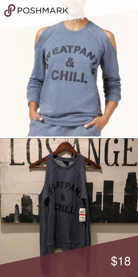 c1c3e6035a461 Material Girl cold shoulder SweatPants   Chill XS Material Girl-Cold-Shoulder  Graphic Sweatshirt