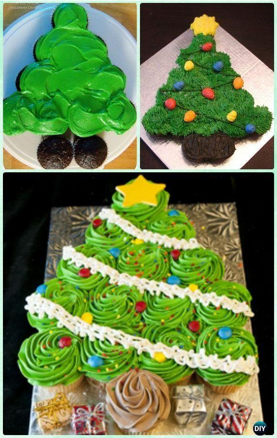 Diy Flat Christmas Tree Pull Apart Cupcake Cake Instruction Tutorial