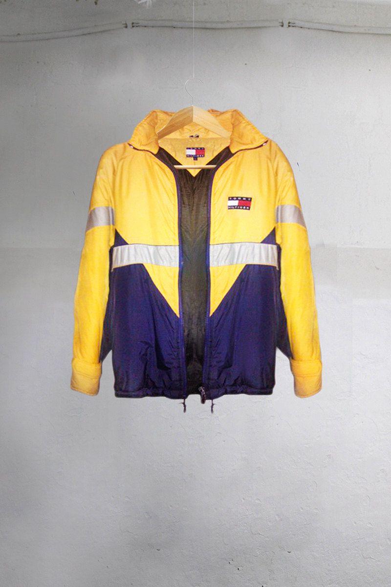 Rare Vintage 90s Tommy Hilfiger Sailing Gear Puffer Jacket Color