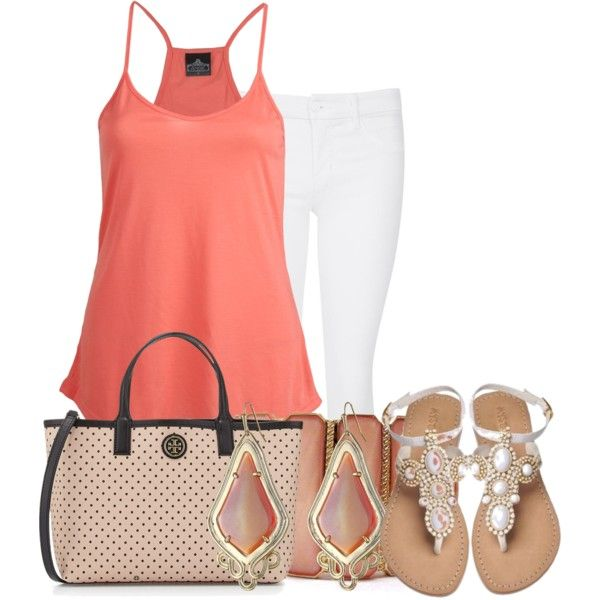 """""""Peachy Summer"""" by ljjenness on Polyvore"""