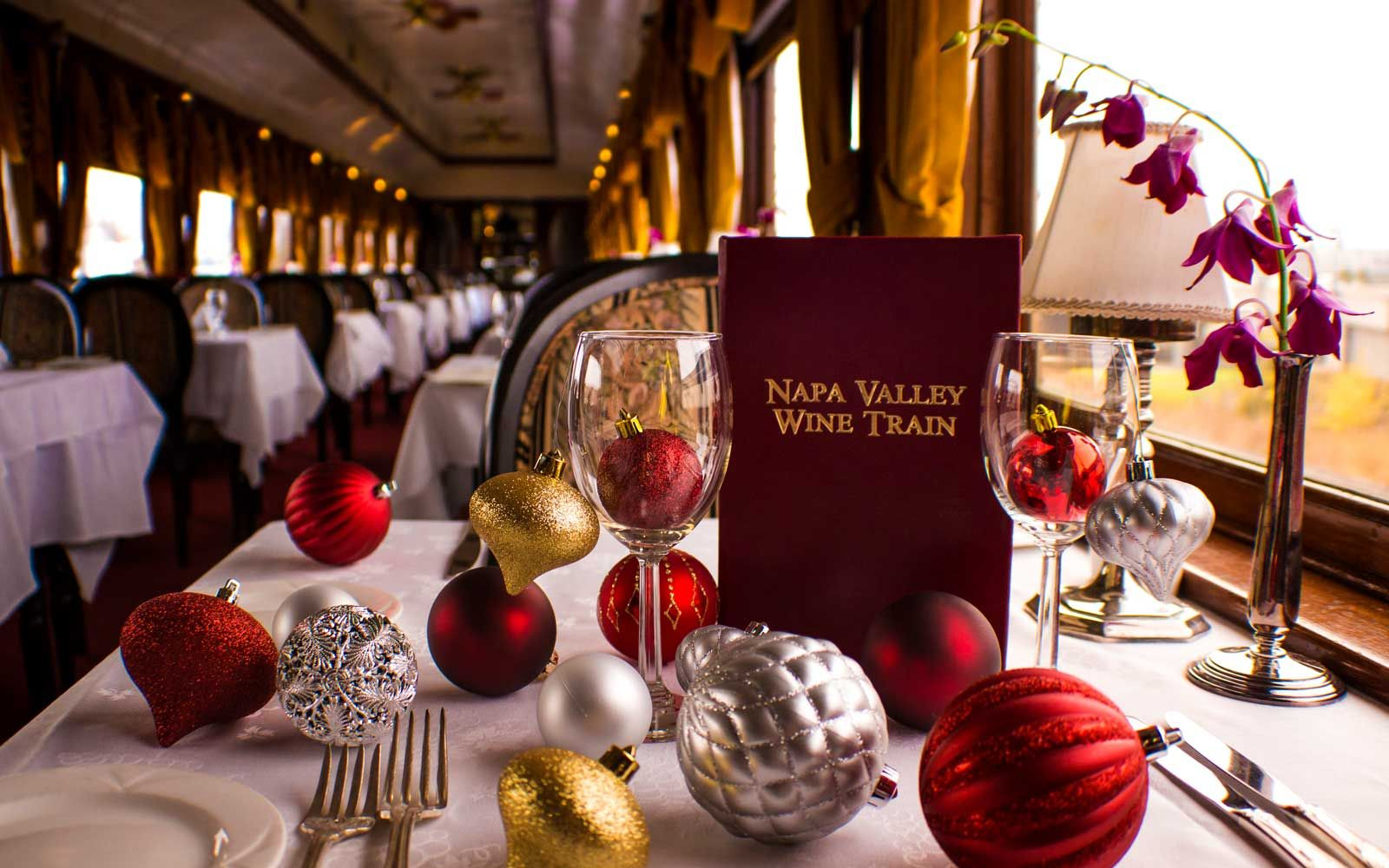 The Most Luxurious Train Rides In The World Wine Train Napa Valley Wine Train Christmas Train