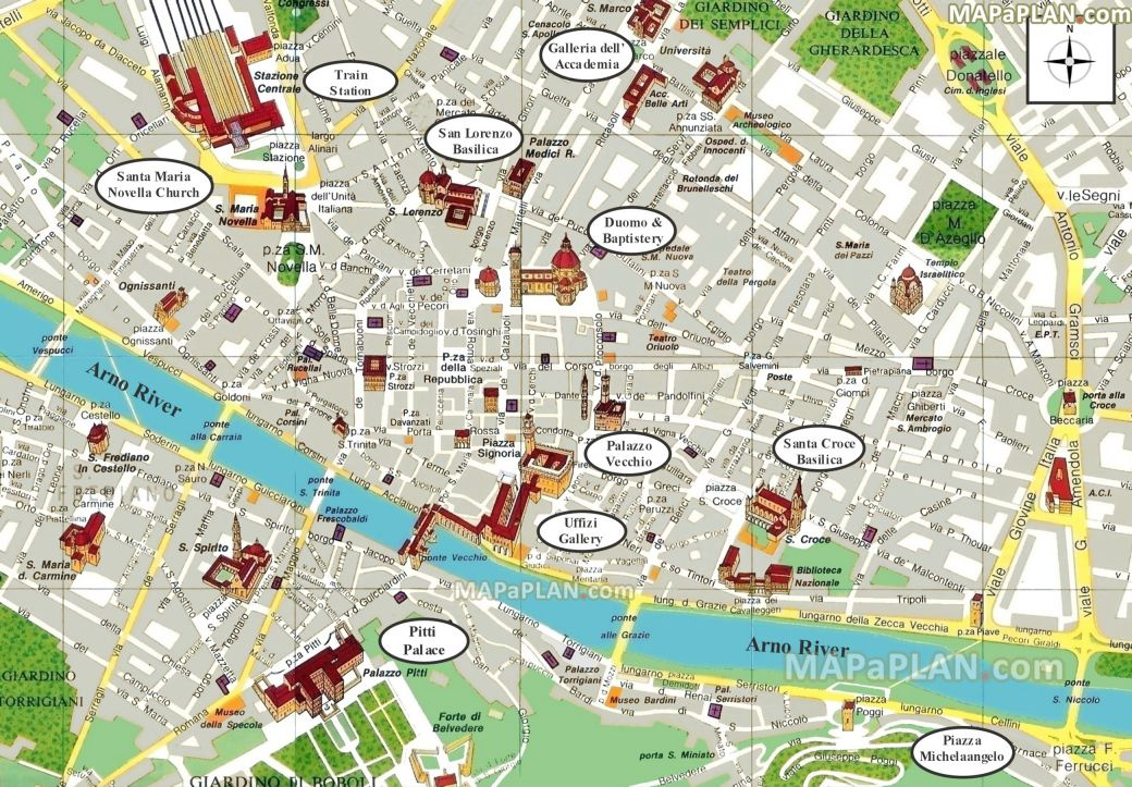 Visit Beautiful Florence | Map of florence italy, Florence ...