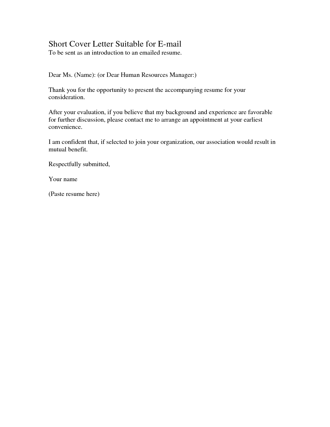 Title Cover Letter Resume Greeting Name Sample Good Titles