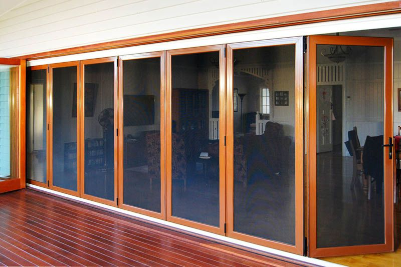 Either Side Of Dining Room A Image Of The Use Crimsafe Bi Fold Doors For Patio Screening External Sliding Doors Bifold Doors Sliding Shutters