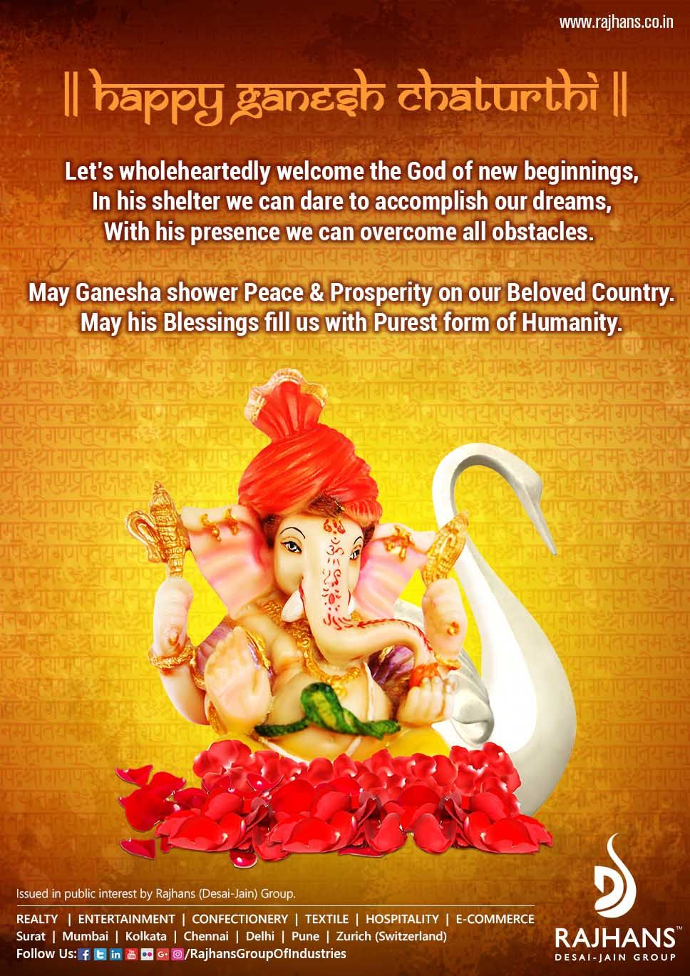 Rajhans Desai Jain Group wishes all of you