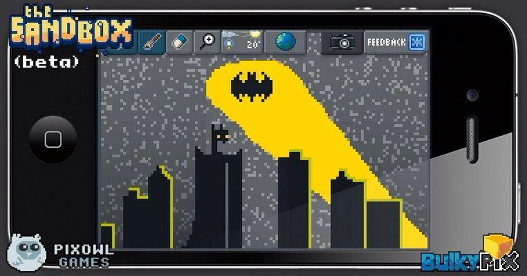 Gotham City pixelart sandbox pixel art ios iphone