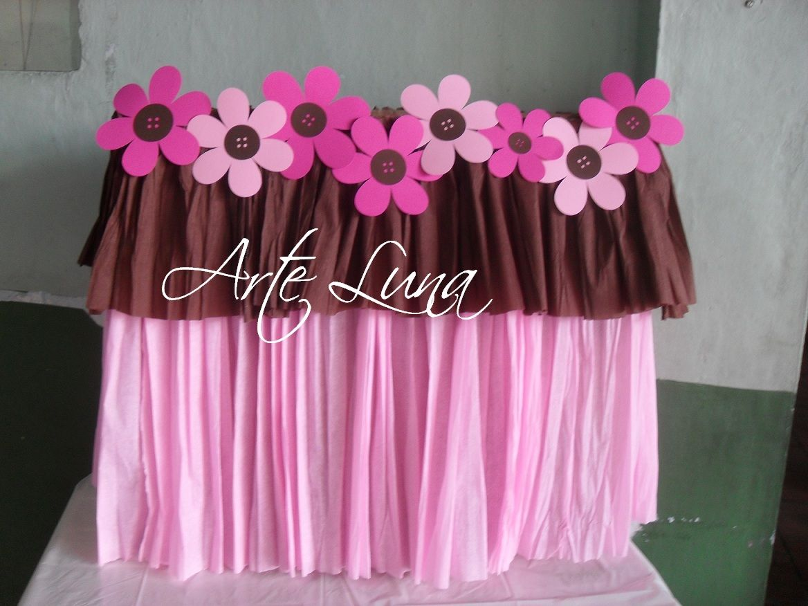 Decoraciones para baby shower marron con rosado buscar for Decoracion casa shower