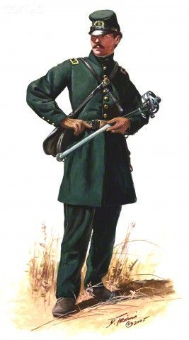"""Officer of the 1st U.S. Sharpshooters, """"Berdan's Sharp Shooters ..."""