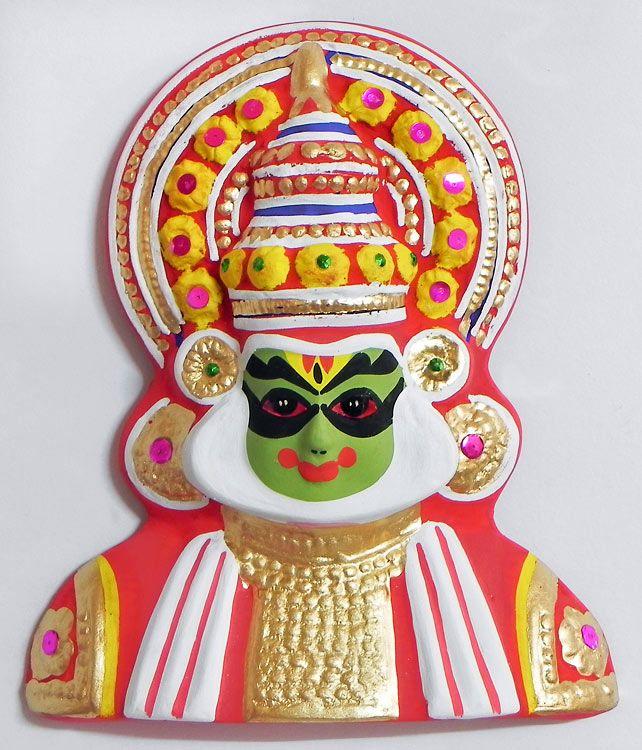 Buy Decorative Masks Online India Arjuna From Mahabharata In Kathakali Style  Wall Hanging  Papier