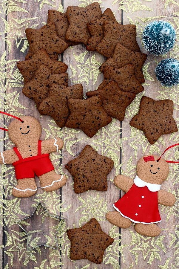 Weihnachtskekse mit Schokolade und Zimt   - Christmas -