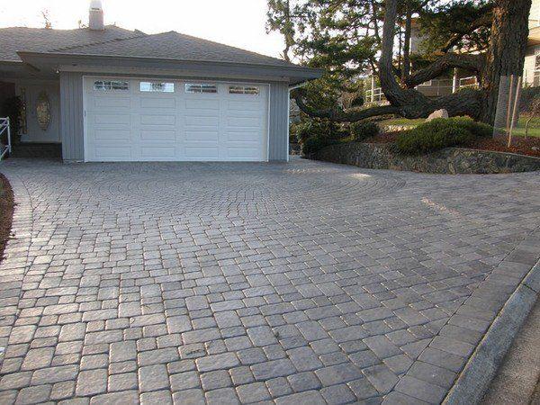 Driveway Pavers Ideas Concrete Pavers Vs Stamped Concrete Driveway Pros And  Cons