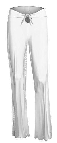 Womens Tie Low Rise Waist Wide Leg Sheer Mesh Swimsuit Beach Cover Up Pants -- Details can be found by clicking on the image.  This link participates in Amazon Service LLC Associates Program, a program designed to let participant earn advertising fees by advertising and linking to Amazon.com.