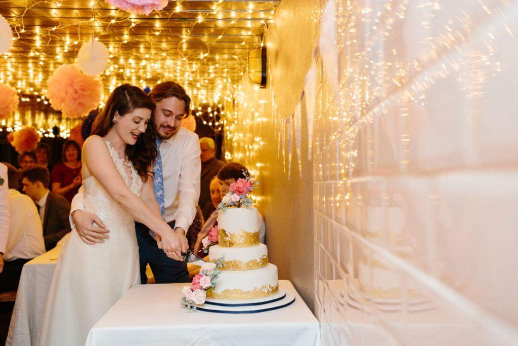 Cake Cutting. Intimate Hackney Wedding. London. Photo by Christine ...
