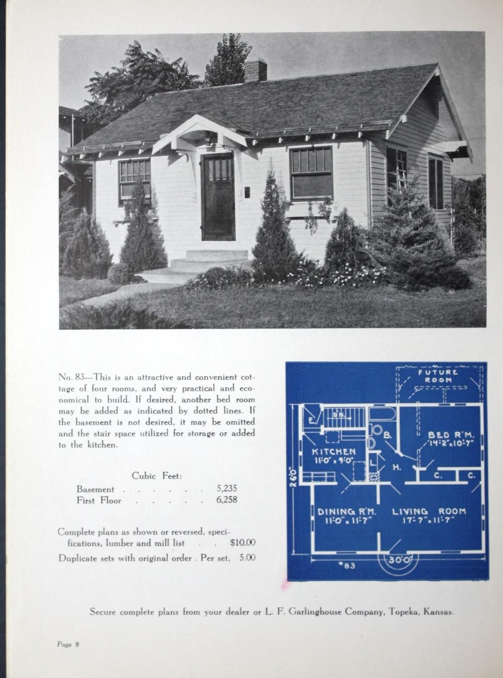 New Small Homes   1938 : L. F. Garlinghouse Co. : Free Download, Borrow,  And Streaming : Internet Archive. Vintage House PlansVintage ...