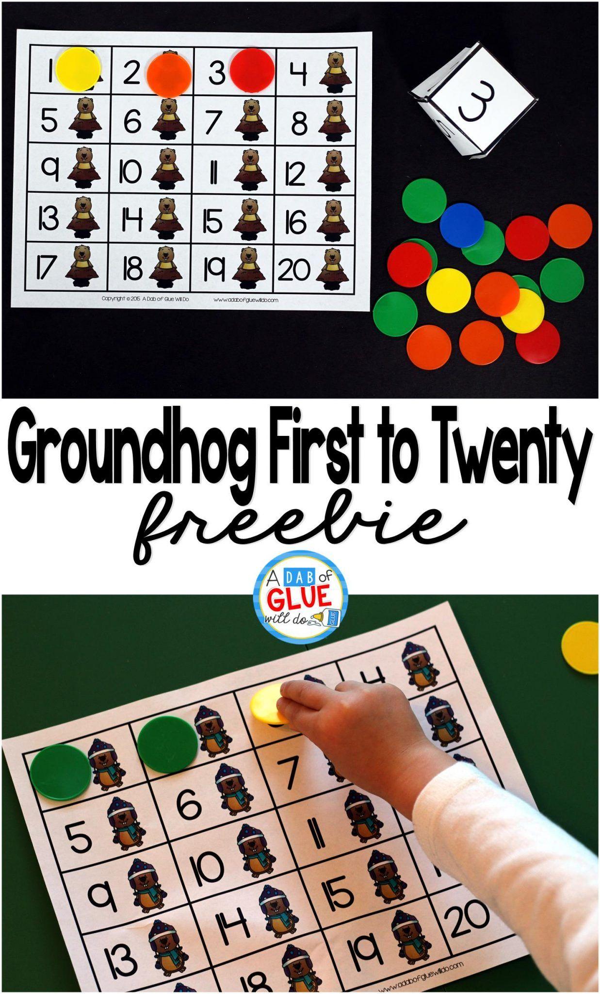 Groundhog First To Twenty Math Game