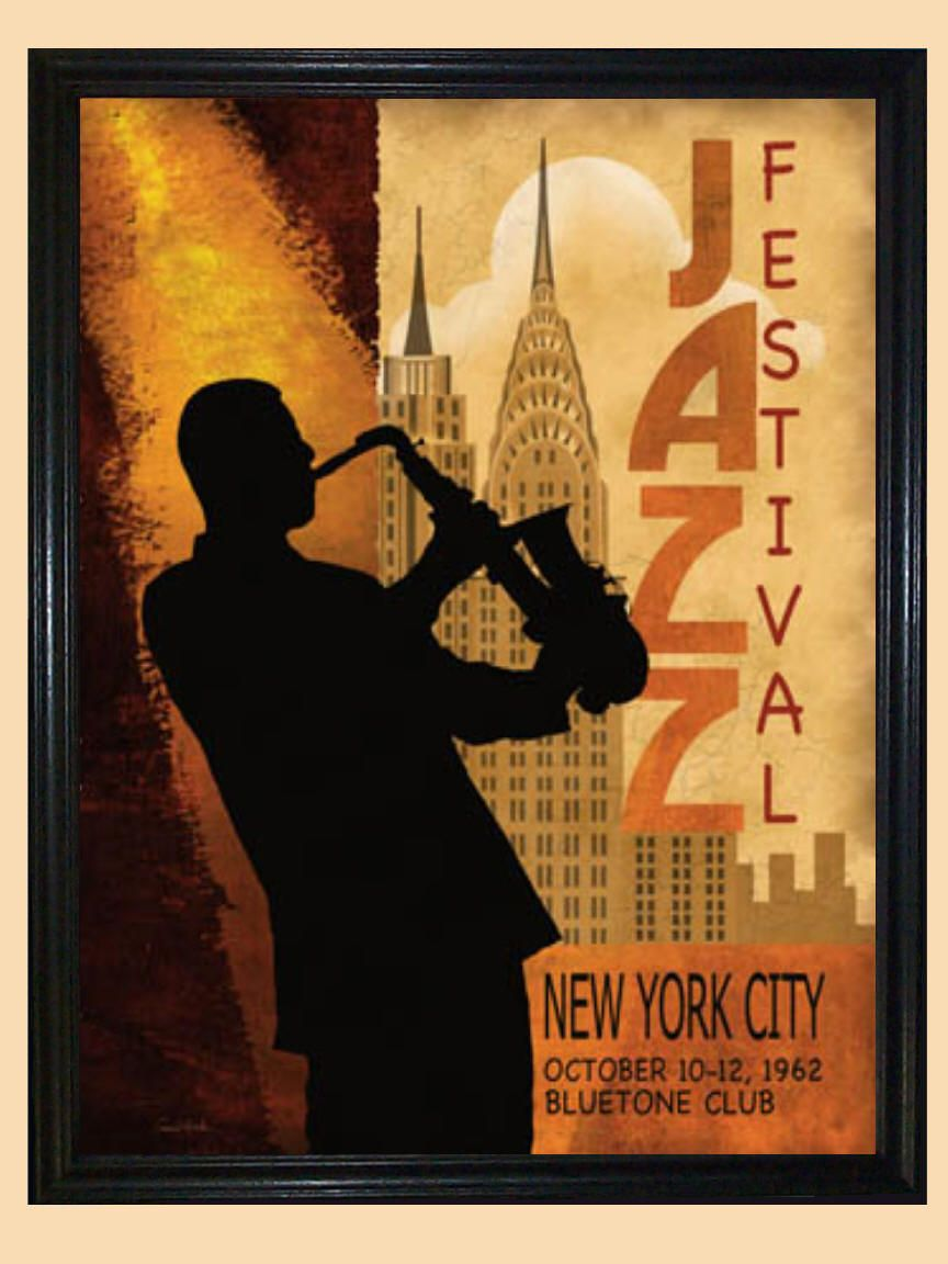 Conrad Knutsen 1962 Jazz Festival in New York Poster Print ...