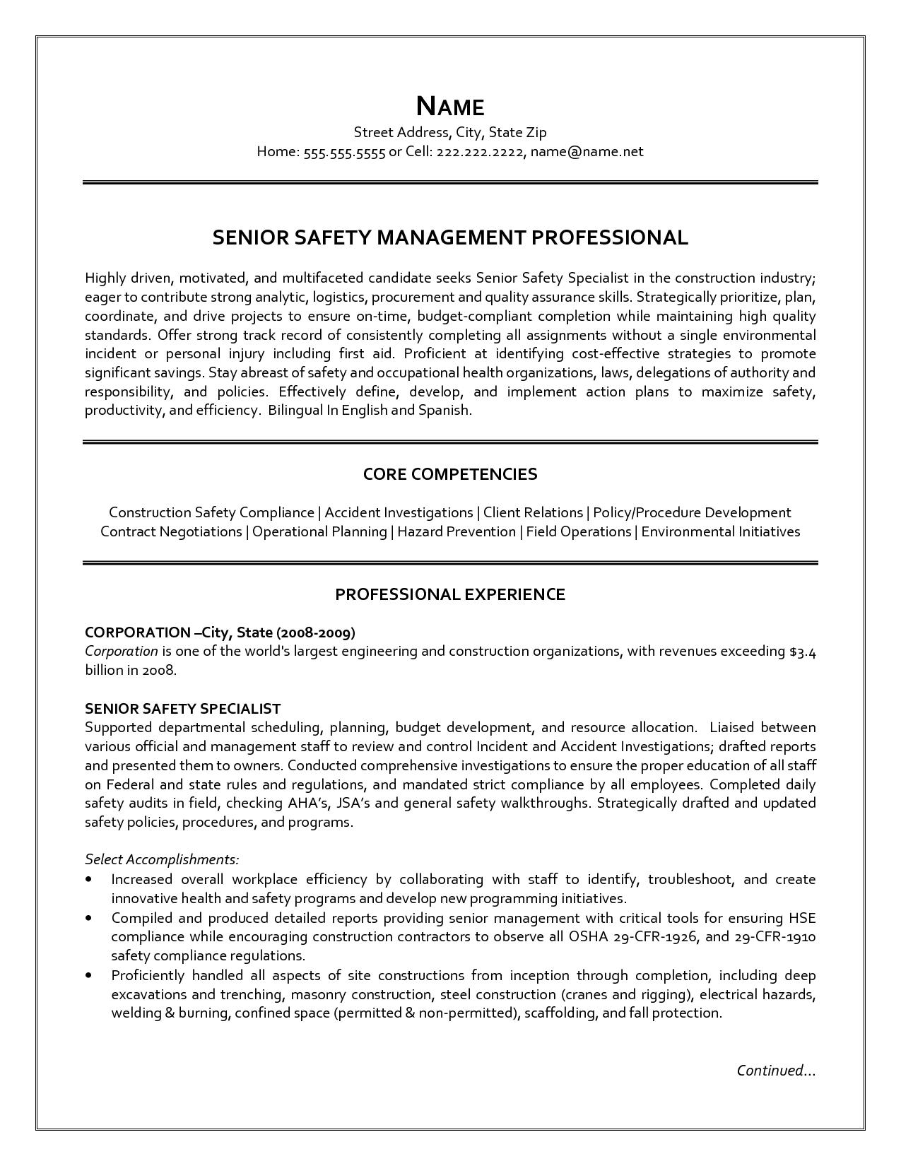 senior logistic management resume Resume of a Senior