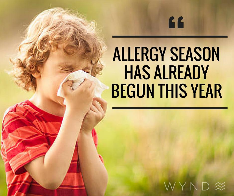 Allergy season has begun. allergies allergy allergens