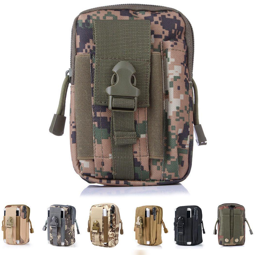 Men/'s Military Tactical Waterproof Waist Pack Purse Mini Outdoor Sport Small Bag