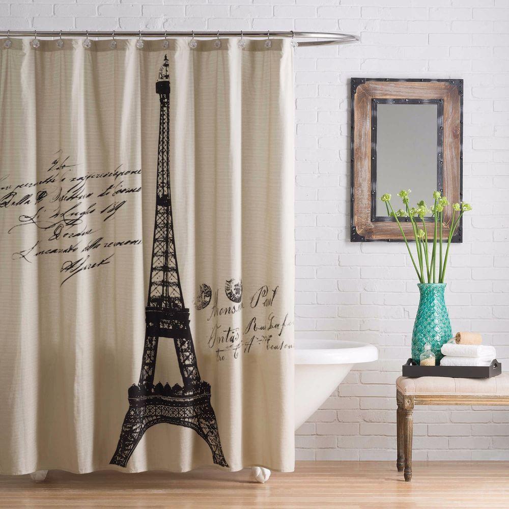 anthology paris shower curtain vintage