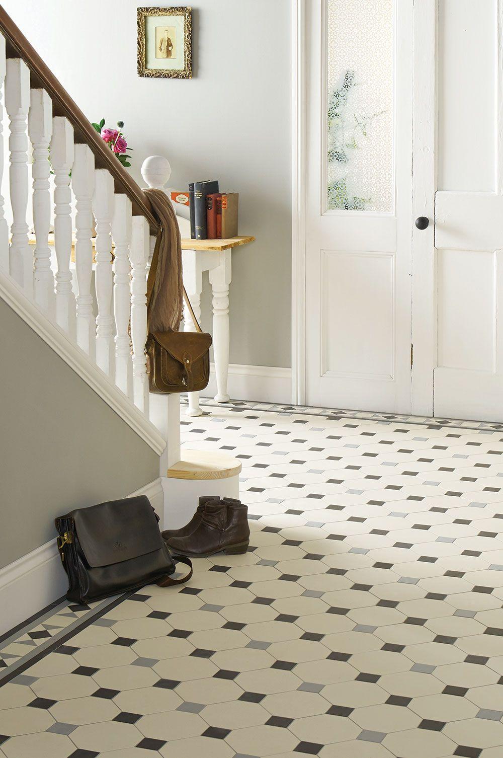 Victorian floor tile gallery 3 pinterest for Small hallway bathroom ideas