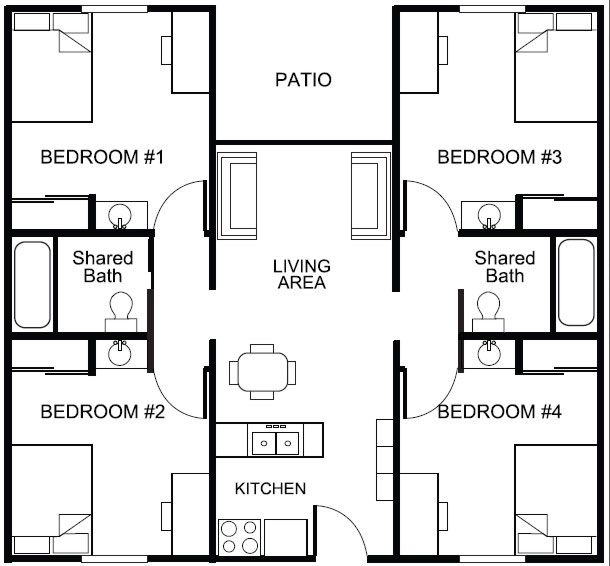 Student Housing Floor Plans Google Search Student House