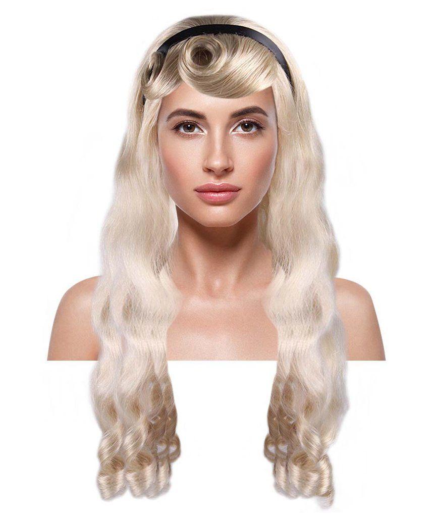 Alice wig long blonde character cosplay halloween wig