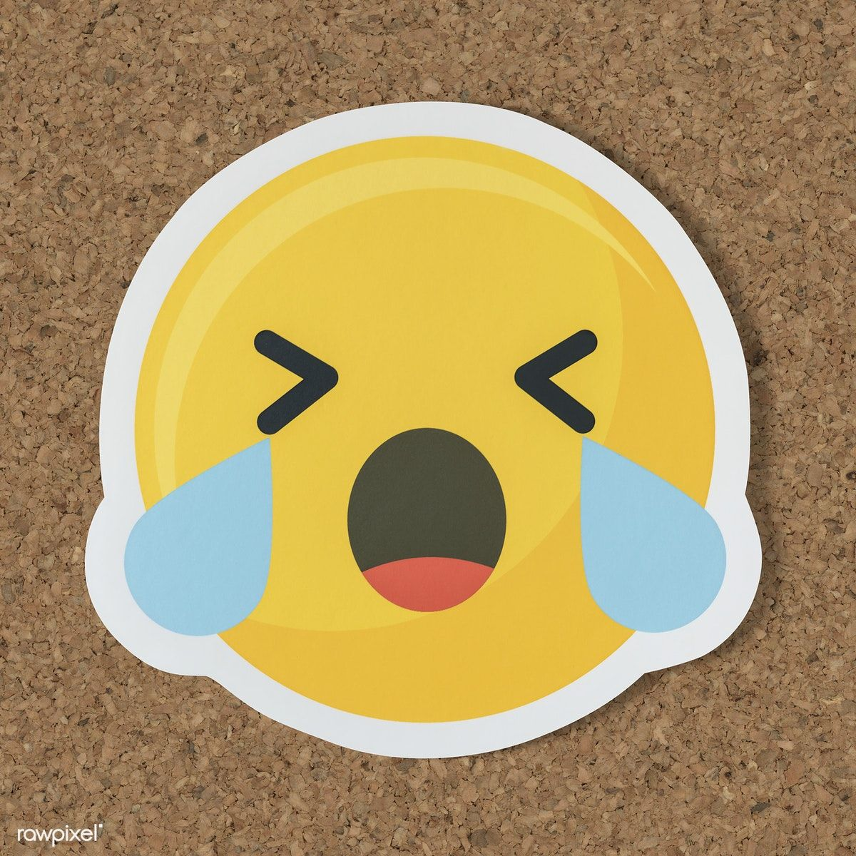 Sad Crying Face Emoticon Symbol Free Image By Rawpixel Paper