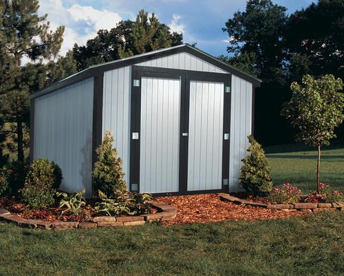 Midwest Manufacturing EZ Build 10u0027W X 14u0027D Gable Storage Building $1500
