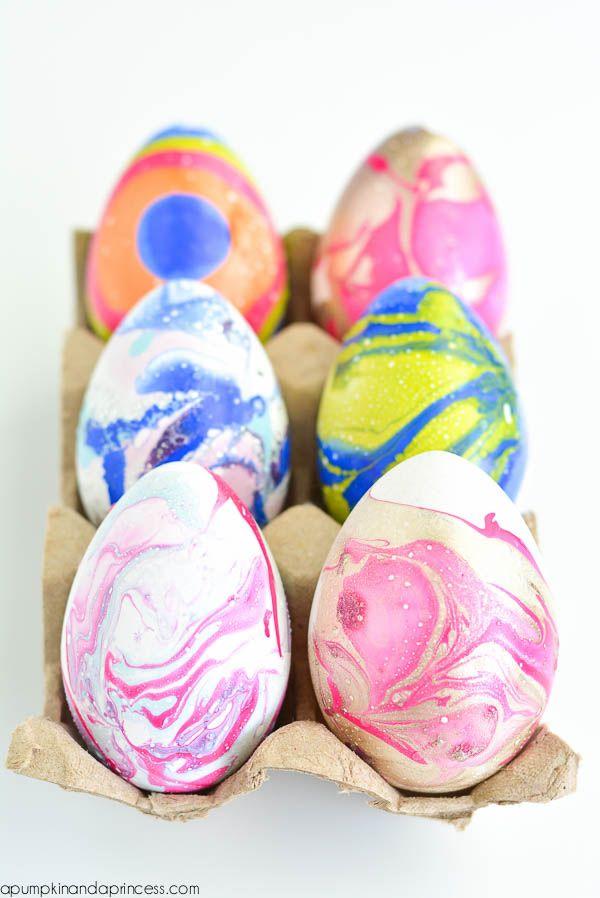 Diy Nail Polish Marbled Eggs Nail Polish Easter Eggs Nail Polish Marbling Diy Nail Polish