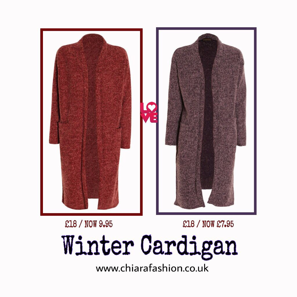 Long winter Cardigan with pocket detail NOW ON SALE! ❤️ www.chiarafashion.co.uk/new-arrivals/ #Chiarafashion #Blissfulbabi #Winter #Cadigan #Sales