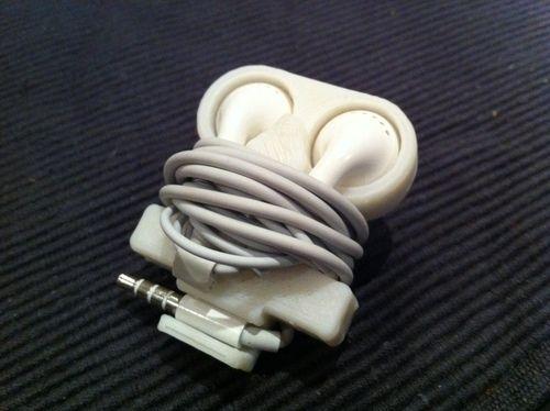apple kopfh rer halterunf befestigung aus dem 3d drucker sorgt daf r dass die kabel sich nicht. Black Bedroom Furniture Sets. Home Design Ideas