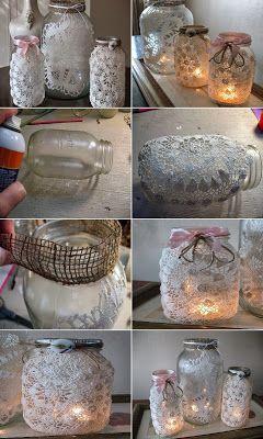 Kataskeyes Fanarakia Khrophgia Apo Adeia Baza Soyloypwse To Decorated Bottle Bottles Decoration Jar Crafts