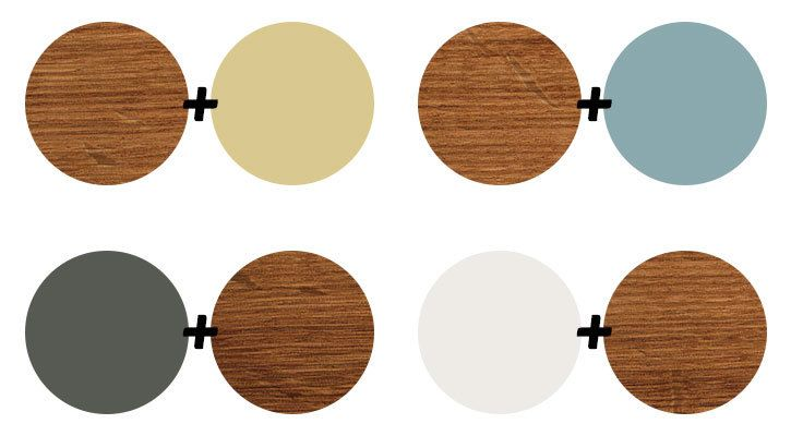 4 colors that look great with natural wood Golden Kiwi Hazy