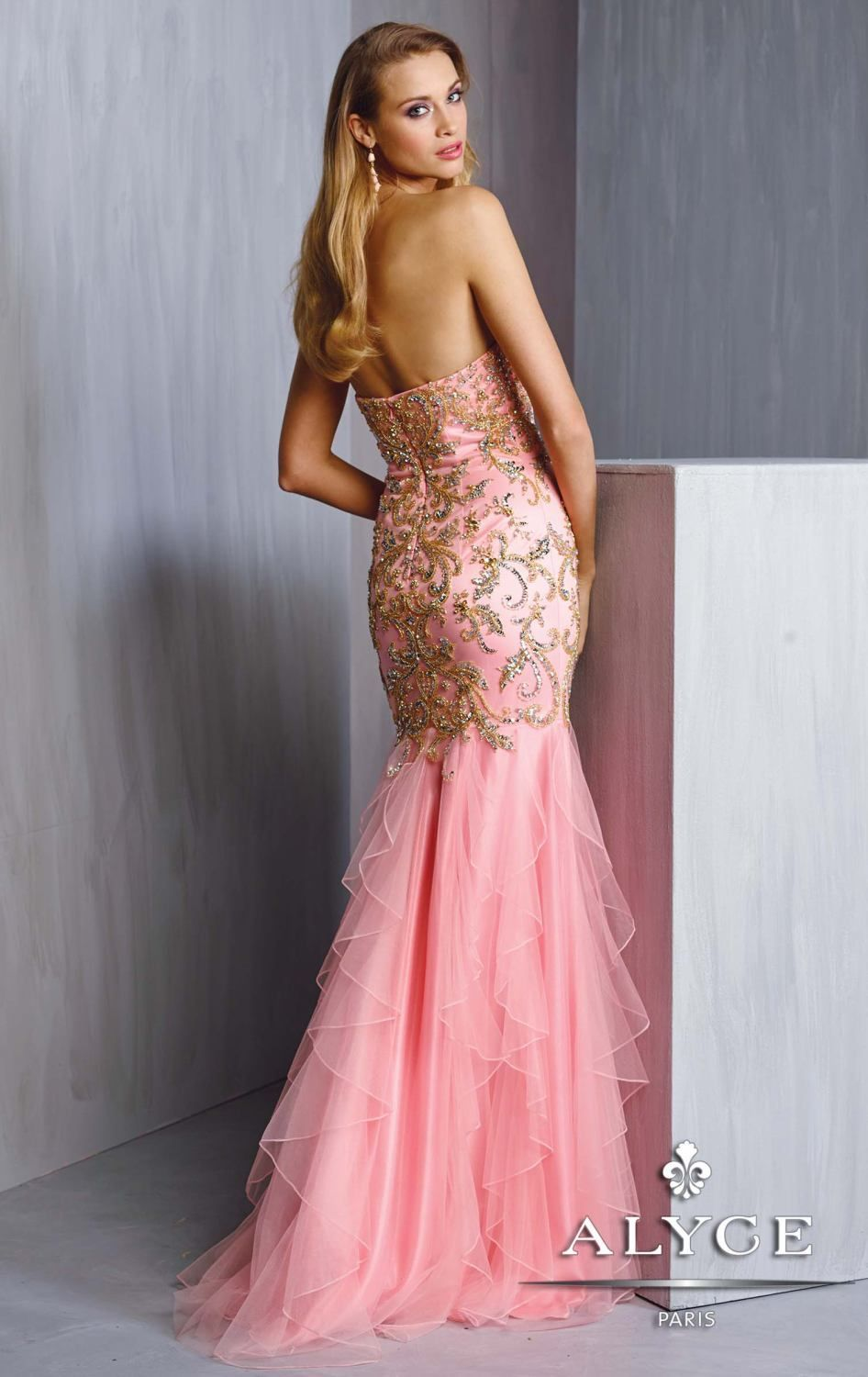 0ec2dd7ab26 Beaded Sweetheart Tulle Mermaid Gown by Alyce Prom