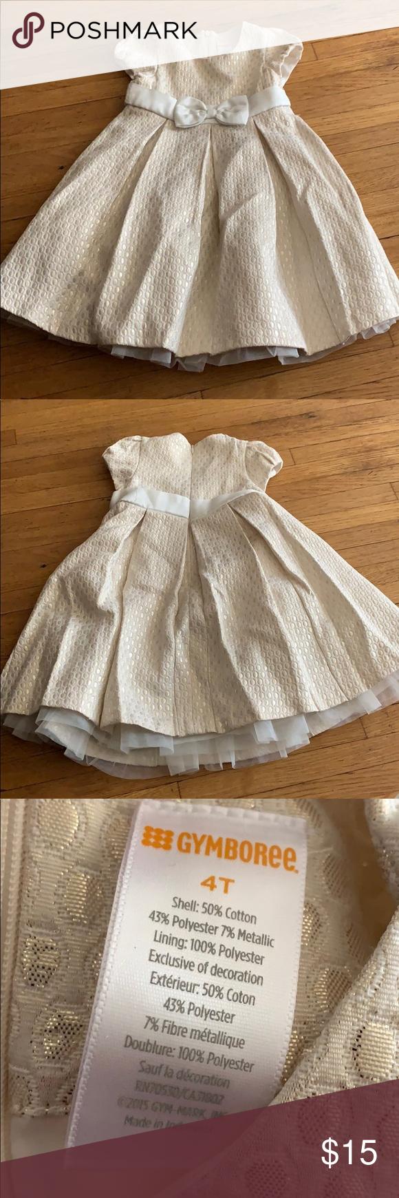 Gymboree Dress 4t White Gold Gymboree Dresses 4t Dress Dresses [ 1740 x 580 Pixel ]